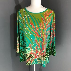 Bob Mackie Wearable Art blouse large